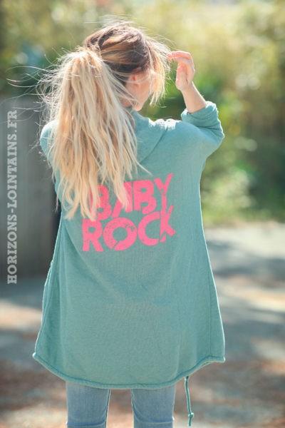 Veste-longue-vert-céladon-sweat-zip-baby-rock-d007