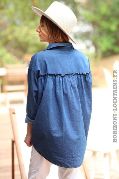 Chemise-matière-jean-foncé-ample-oversize-chemises-femmes-denim-bleue-D079