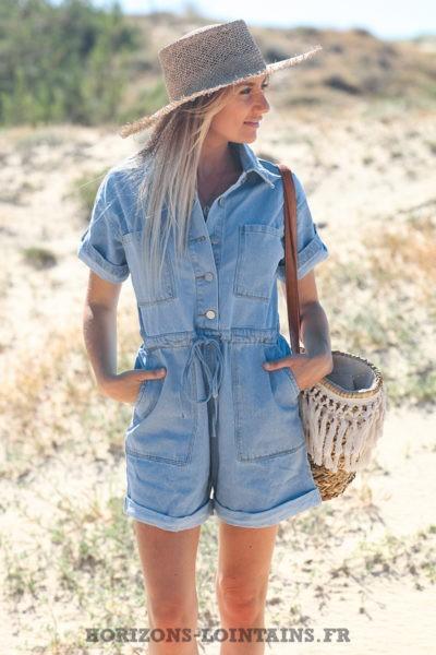 Combishort-jean-délavage-clair-matière-denim-avec-boutons-vêtement-femme-moderne-tendance-D012-04