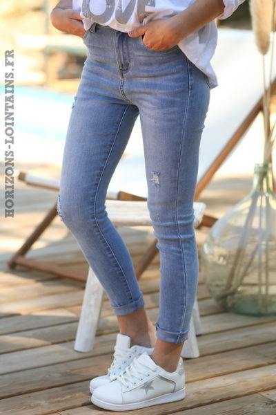 Jean-skinny-stretch-taille-haute-délavage-clair-pantalon-denim-femme-D029-02