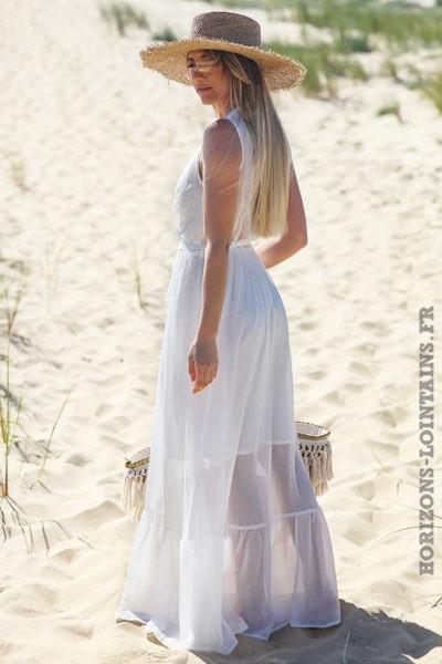Robe-longue-blanche-It-Hippie-doublée-vêtement-femme-style-bohème-hippie-D031 copie