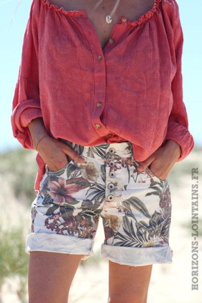 Short-en-toile-imprimé-exotique-vêtements-femme-horizons-lointains-D027