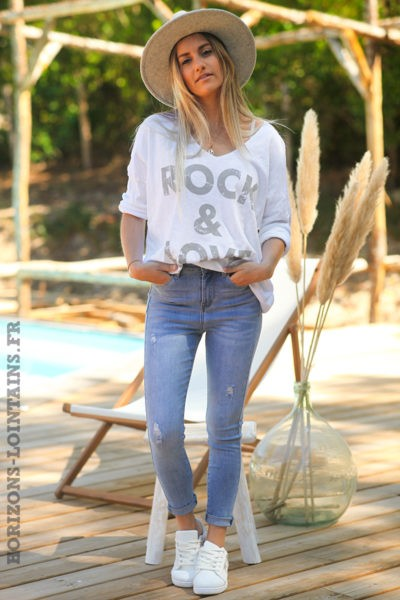 Tshirt-rock-and-love-blanc-teeshirt-manches-longues-message-D097-09