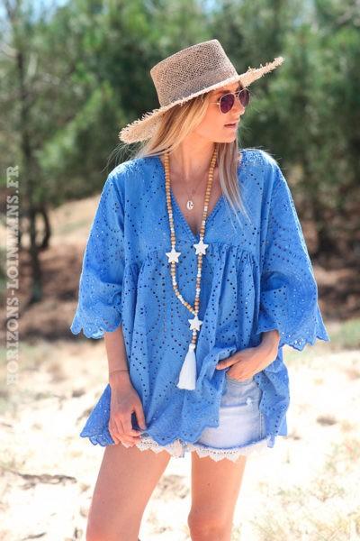 Tunique-bleue-coton-avec-broderie-anglaise-et-petites-manches-d104