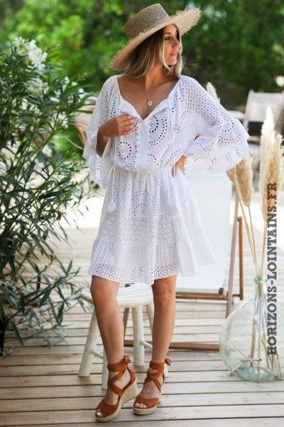 Robe-blanche-avec-broderie-anglaise-taille-élastique-confortable-robes-bohème-hippie-D060-07