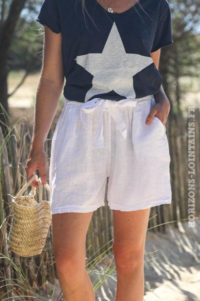 Short-blanc-matière-lin-shorts-femme-confortable-esprit-bohème-hippie-D042