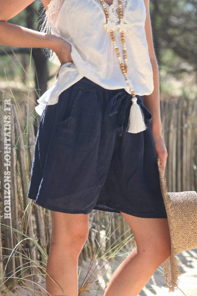 Short-bleu-marine-matière-lin-shorts-femme-confortable-esprit-bohème-hippie-D042