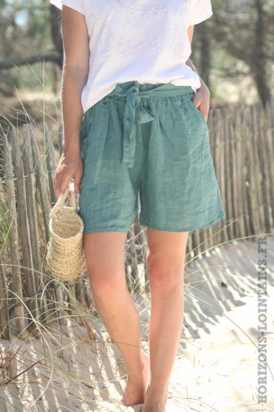 Short-vert-céladon-matière-lin-shorts-femme-confortable-esprit-bohème-hippie-D042