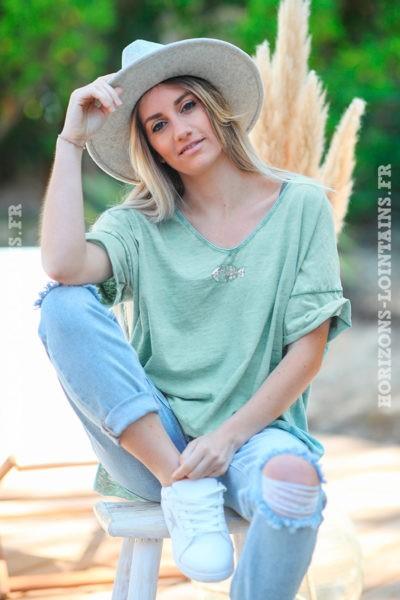 Tshirt-vert-céladon-délavé-poisson-sequins-argentés-teeshirts-femme-D094-4