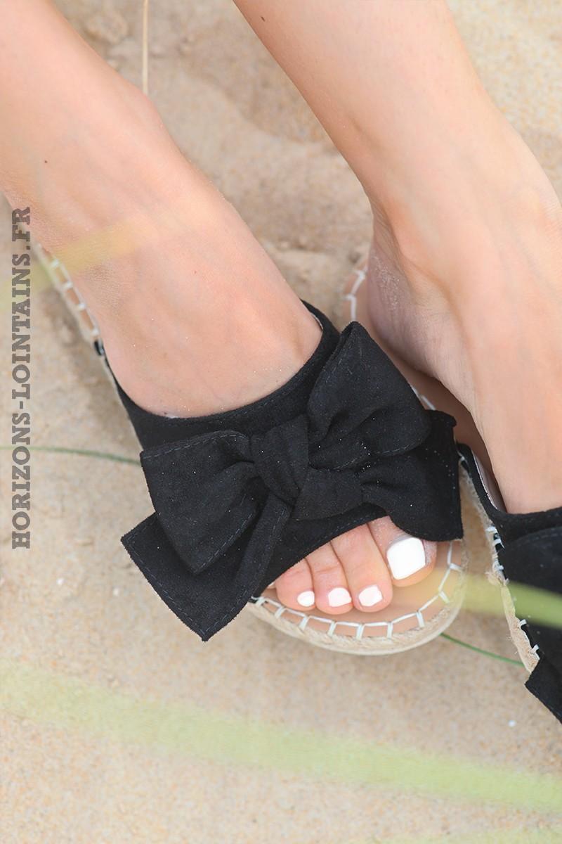 mules-plates-noeud-noir