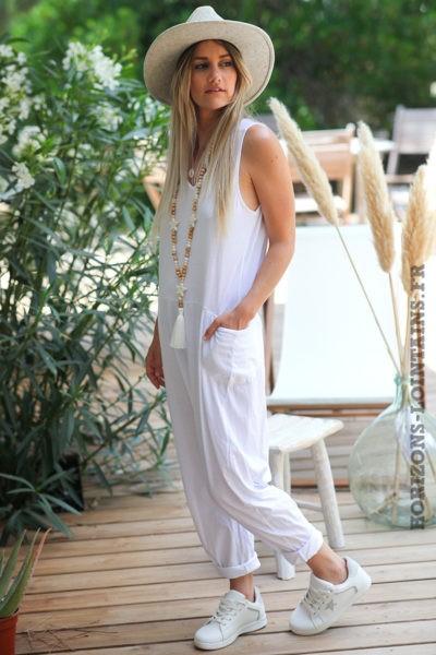 Combipantalon-blanche-baggy-matière-coton-combi-pantalon-femme-look-moderne-D016