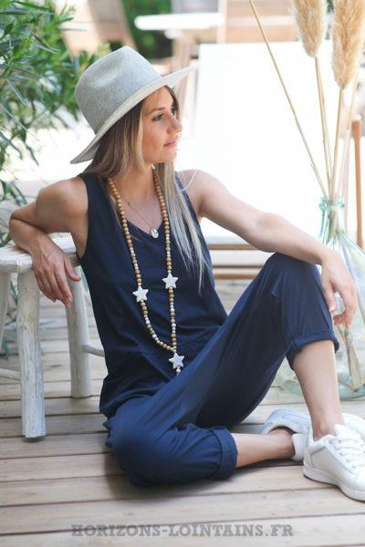 Combipantalon-bleu-marine-baggy-matière-coton-combi-pantalon-femme-look-moderne-D016