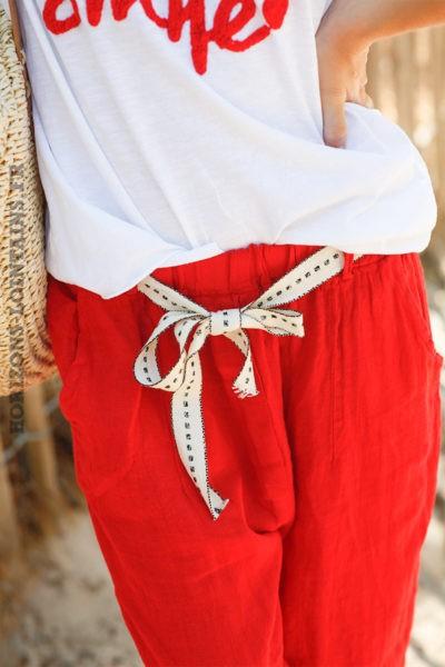 Pantalon-rouge-en-lin-avec-ceinture-tissus-d037 9