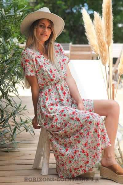 Robe-longue-blanc-cassé-cache-coeur-motifs-coquelicots-robes-fleurs-esprits-bohème-femme-hippie-D075