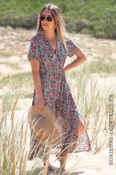 Robe-longue-bleu-marine-cache-coeur-avec-imprimé-fleuri-look-hippie-vêtement-femme-bohème-D076-05