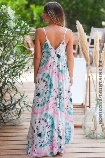 Robe-longue-bretelles-tie-and-dye-rose-turquoise-robes-bohème-style-hippie-D083