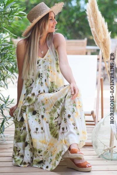 Robe-longue-bretelles-tie-and-dye-vert-jaune-robes-bohème-style-hippie-D083