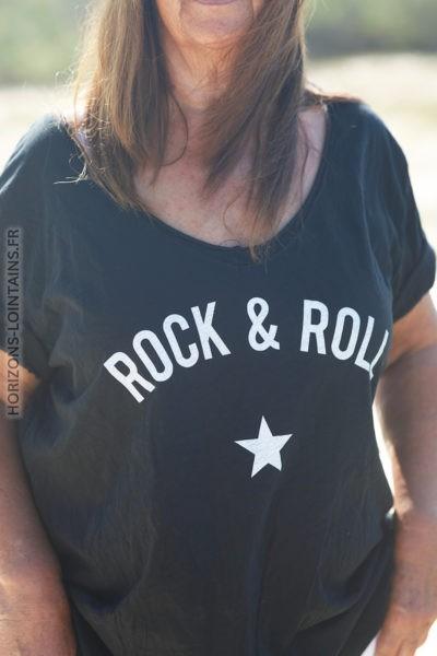 Tshirt noir du 40 au 50 rock and roll D134 2