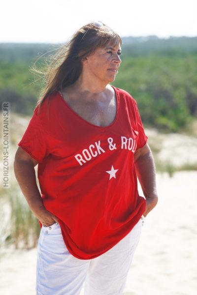 Tshirt rouge du 40 au 50 rock and roll D134 (2)