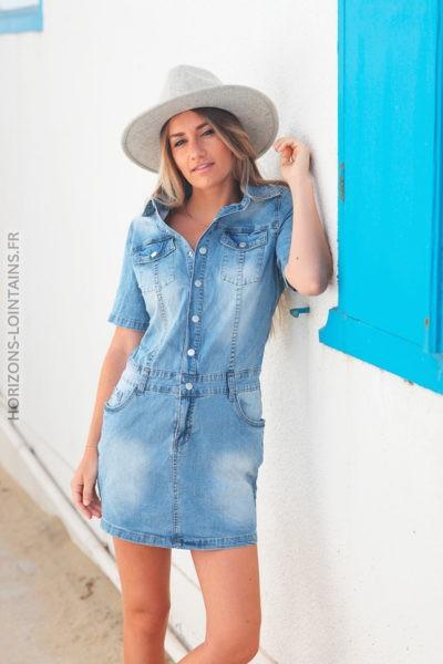 Robe en jean pour ados d099 2
