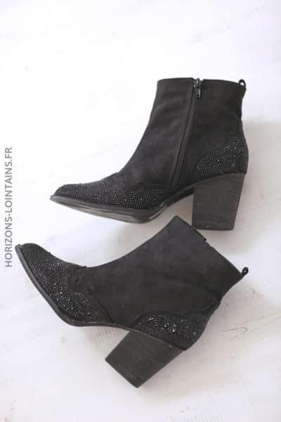 Boots noir a strass (2)