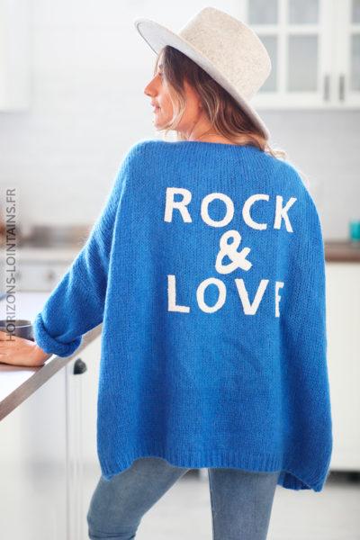 Gilet bleu roi rock and love D20 (1)