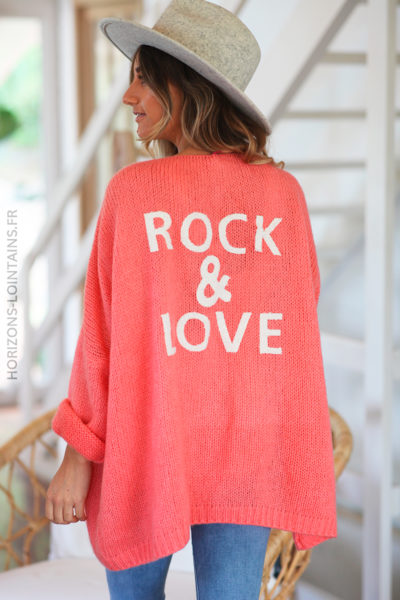 Gilet corail rock and love D20 (1)