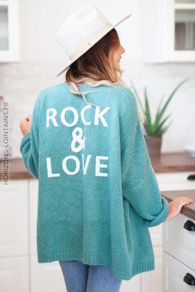 Gilet vert céladon rock and love D20 (1)