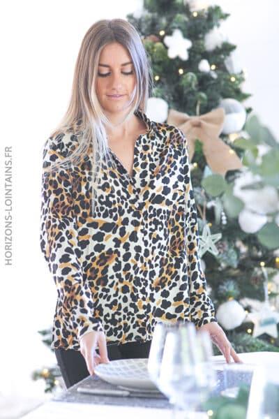 Chemise imprimé léopard D200 (1)