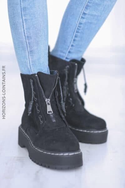 Chaussures montantes Nancy noir E008 (9)