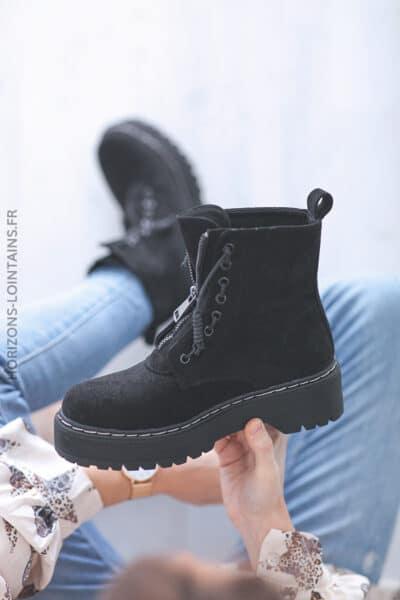 Chaussures montantes Nancy noir E008 (10)