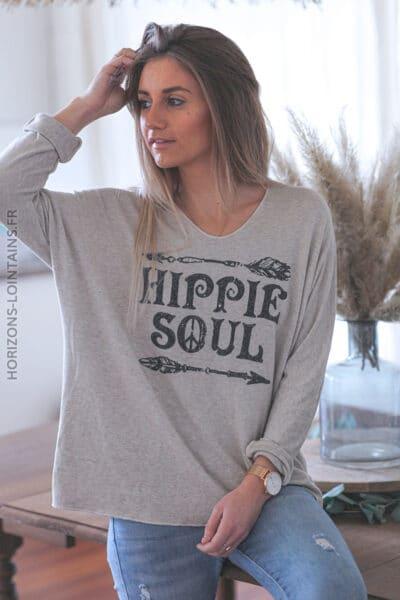 Pull Hippie Soul beige E046 (1)