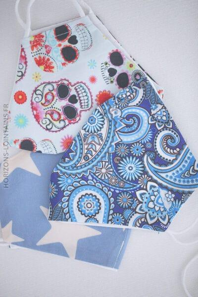 Masque bleu ciel étoiles E001 (1)