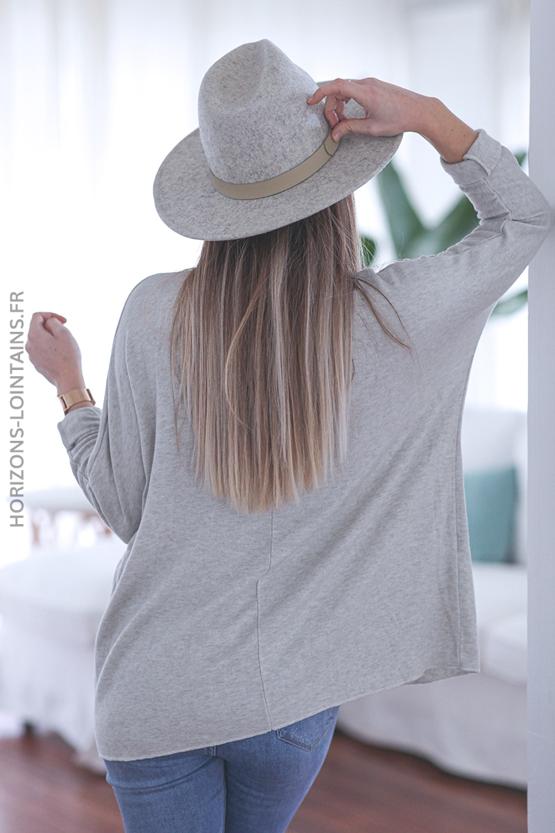 Pull beige fin rock and roll E039 (1)