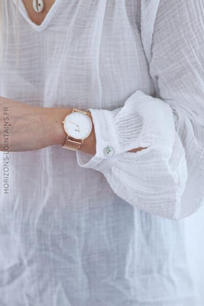 Tunique blanche légère en coton E054 (1)