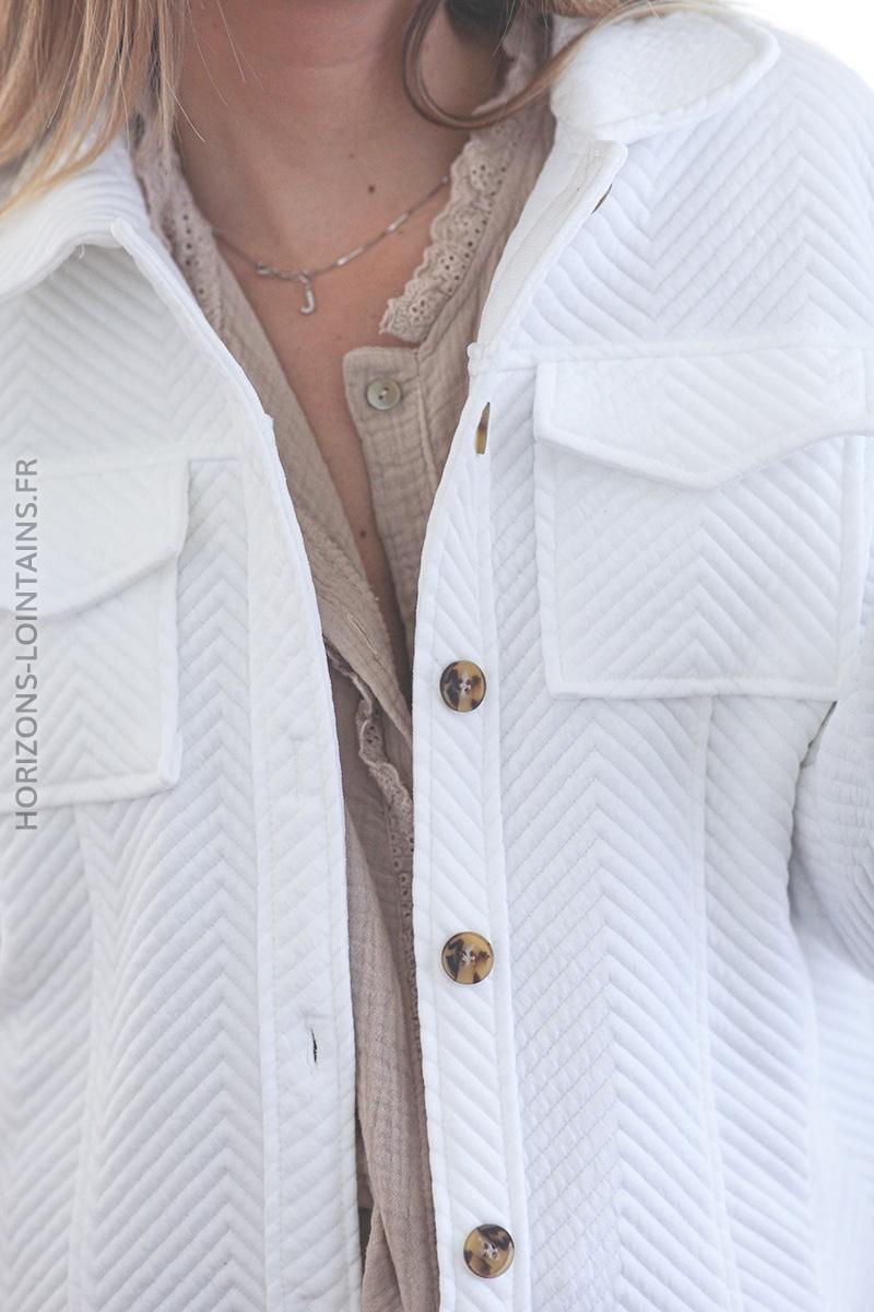 Veste écrue avec poches E004 (1)